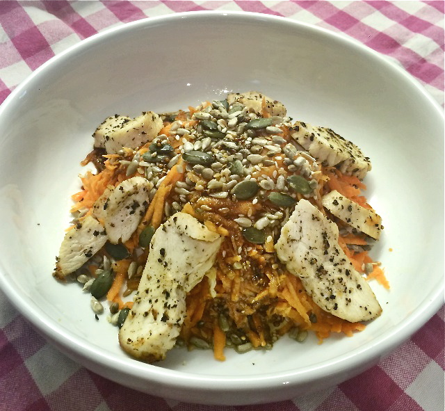 Crunchy Carrot & Warm Chicken Salad