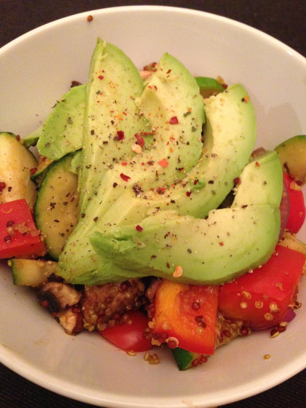 Vegan quinoa stirfry