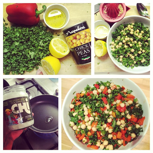 5 Minute Meal: Zesty Kale and Chickpea Salad
