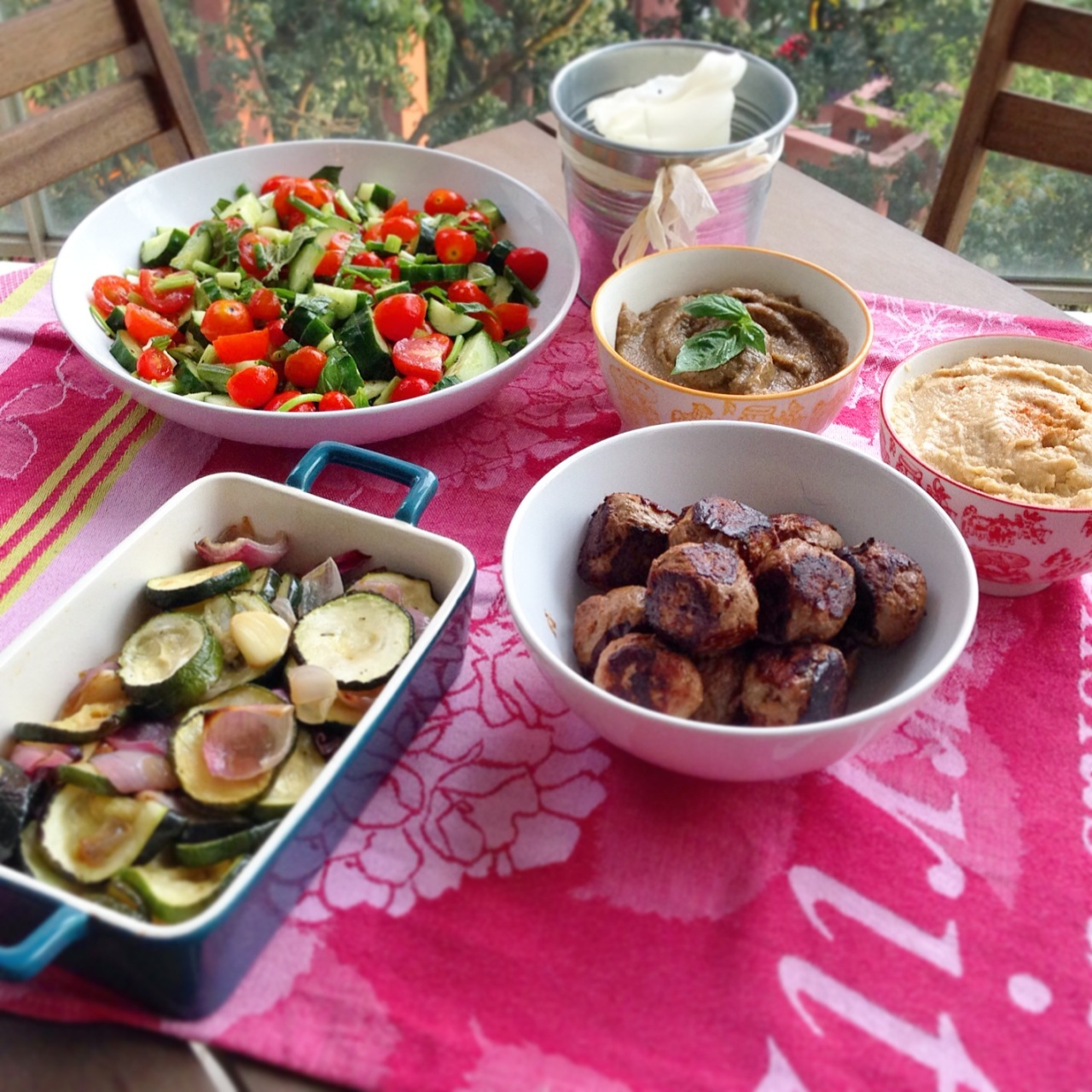 Middle Eastern Mezze Feast