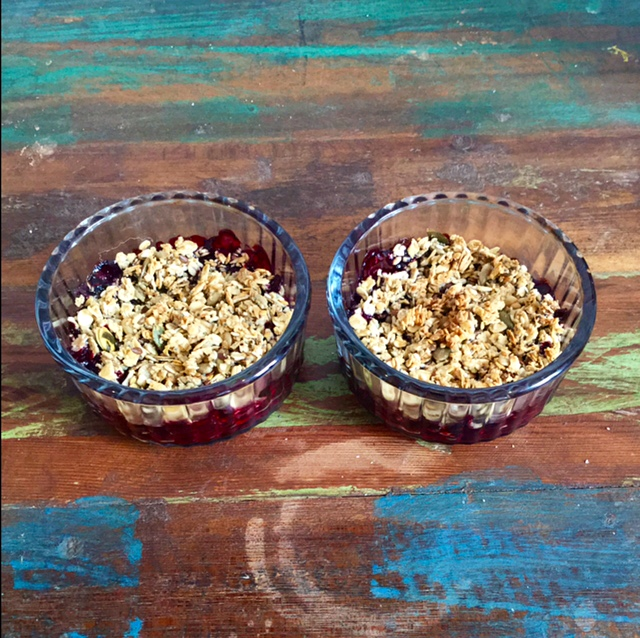 Mini Berry Crumbles