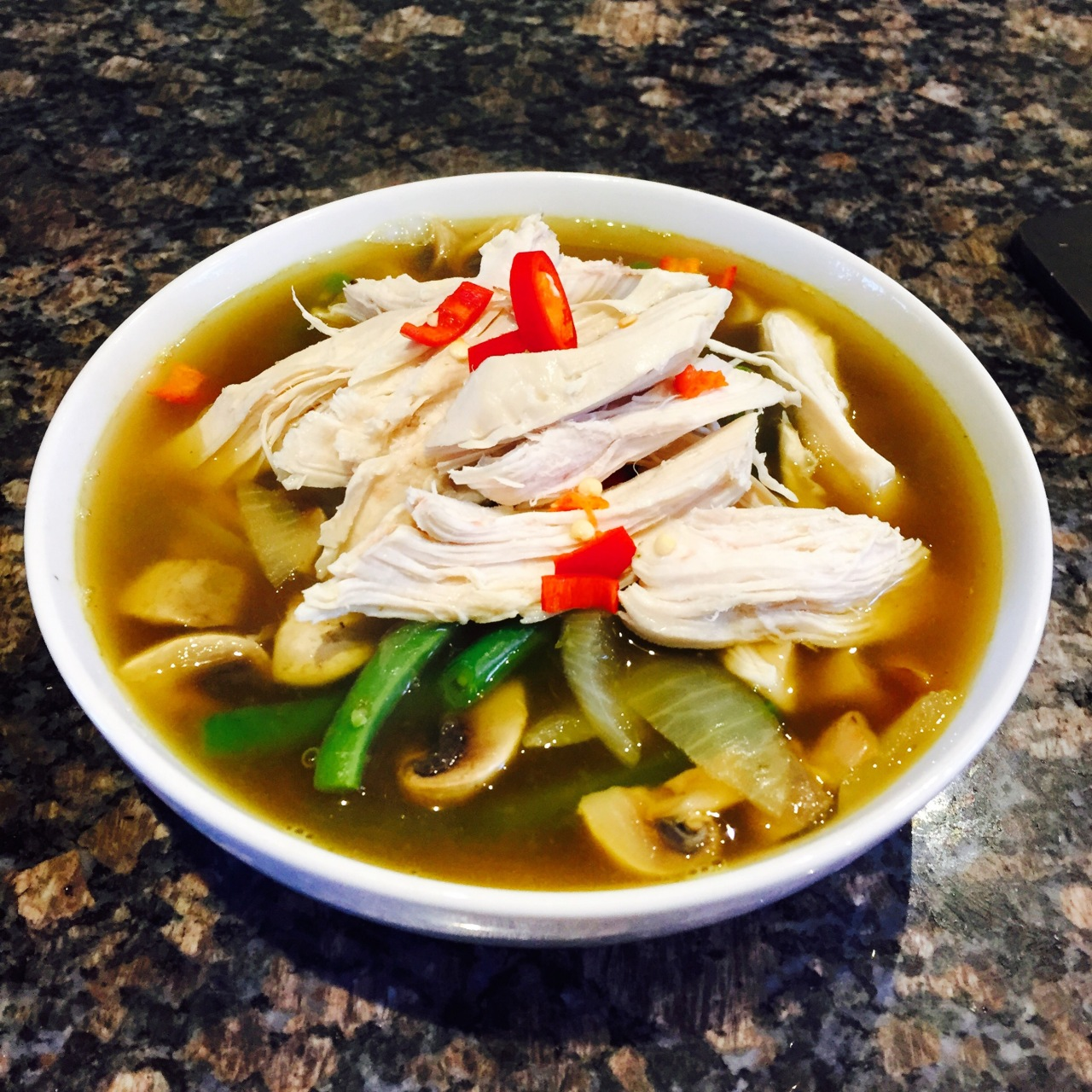 10 Minute Thai Chicken Soup