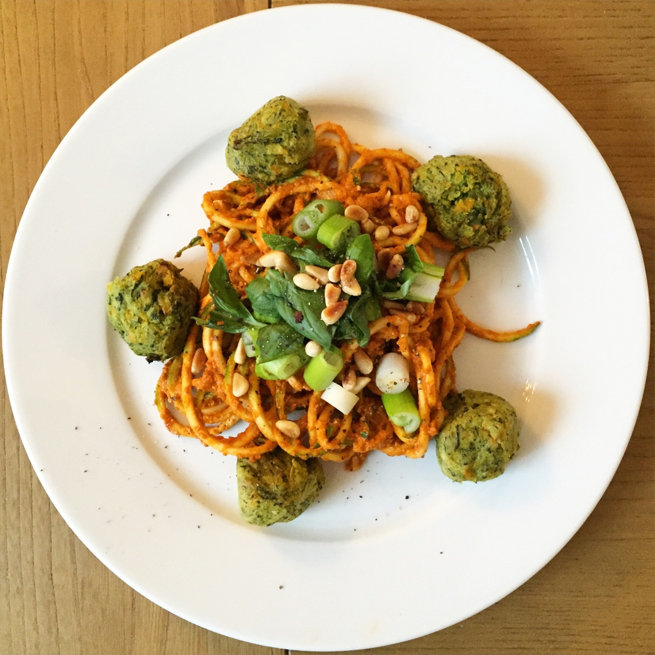 Courgetti and (meat-free) balls